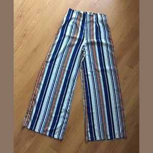 Forever 21 flare wide leg striped pants small